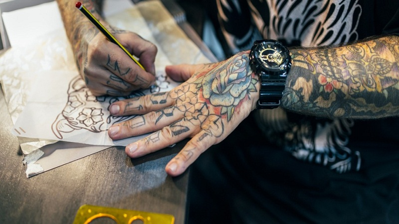 men's wrist tattoos